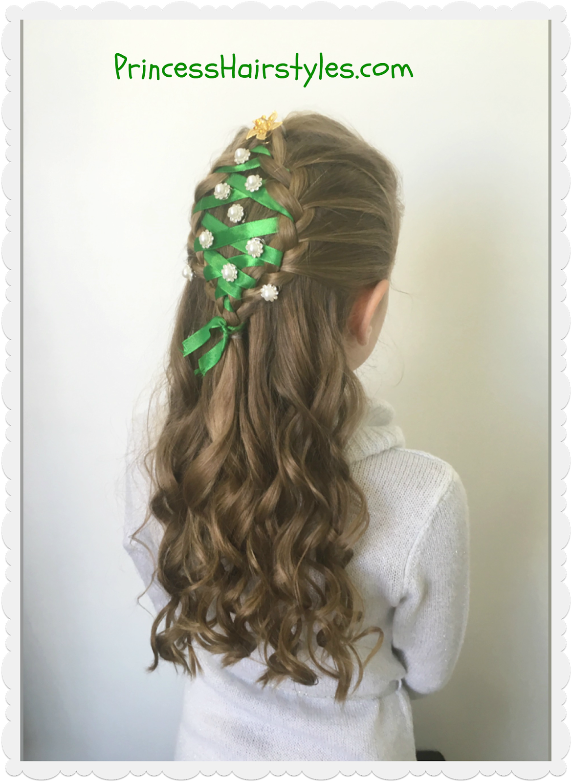 Christmas Tree Hairstyle Hairstyles Girls Princess