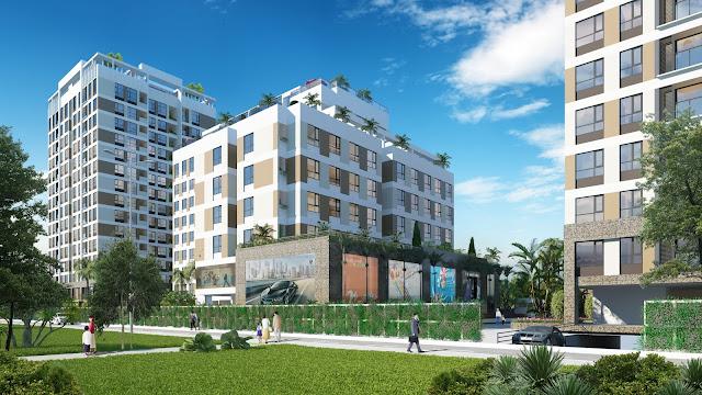 khu vực đường nội bộ chung cư Valencia Garden