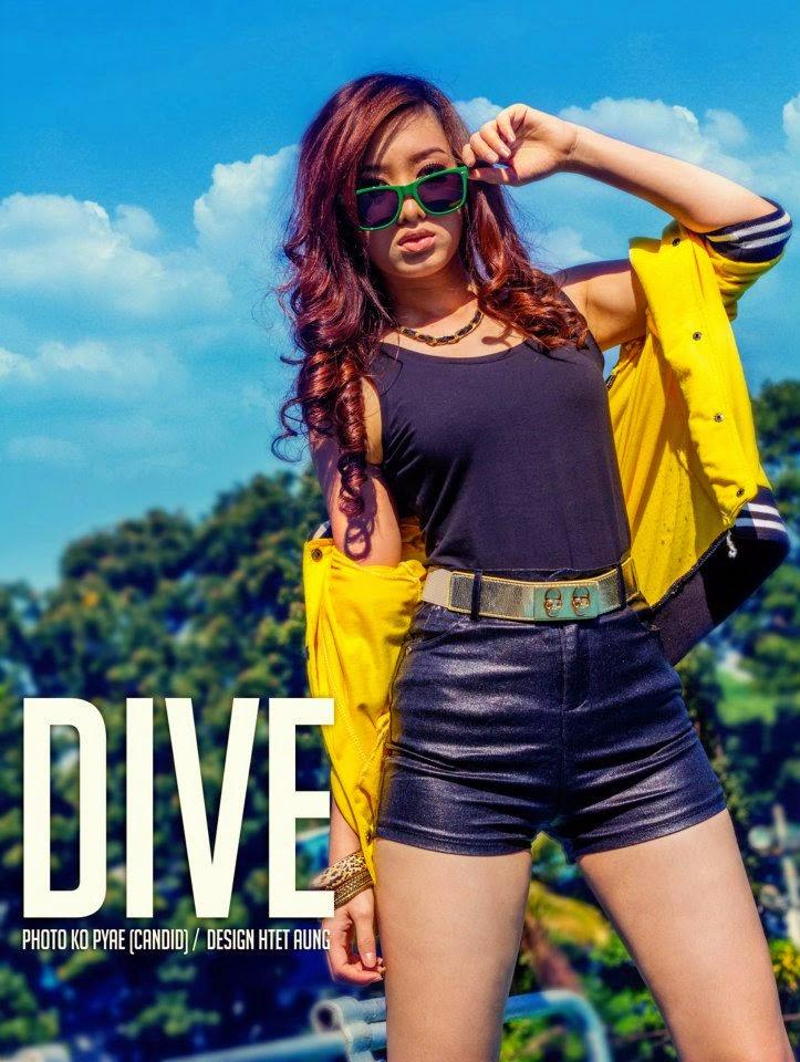Myanmar model girl, Khine Pwints sexy and active style