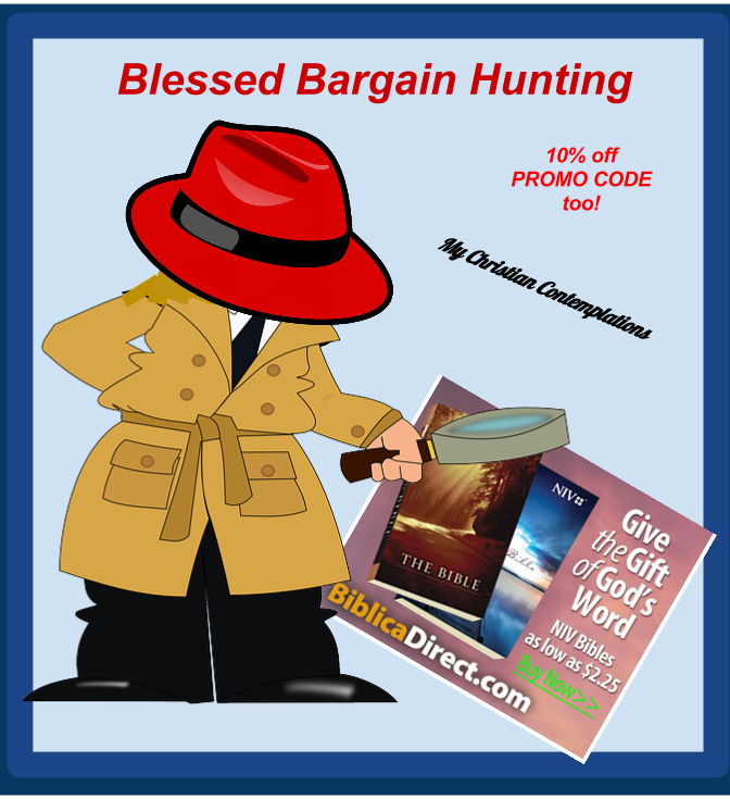 Blessed Bargain Hunting 10% off Promo Code July 2014 : Detective Magnifying glass, Big Red Hat Biblica Bargains