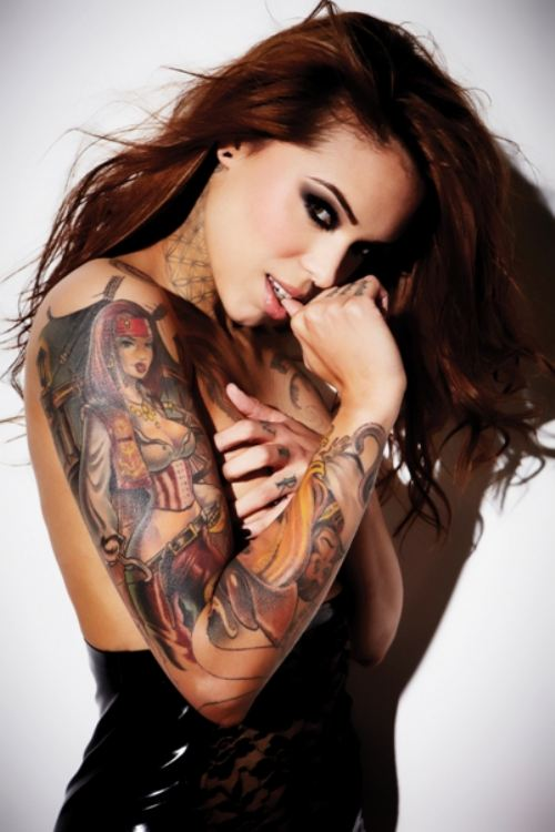 sexy girl with tattoos - photo #32
