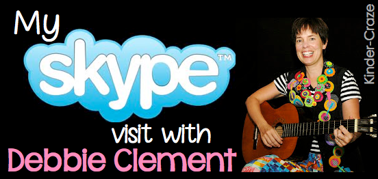 photo of: SKYPE school visit with author/illustrator Debbie Clement