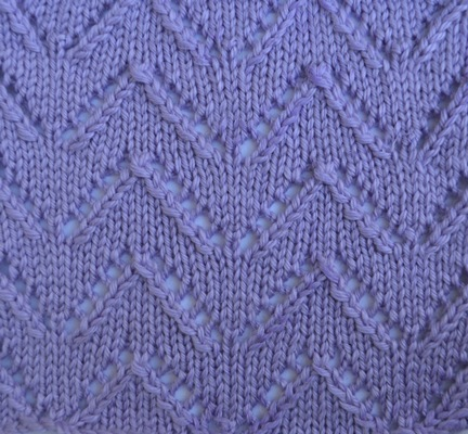 Textured Knits Eyelet Chevron