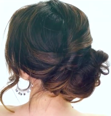 3 Minute Side Bun Hairstyle