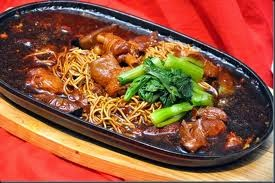 Sizzling Hot Plate Noodles With Chicken Recipe