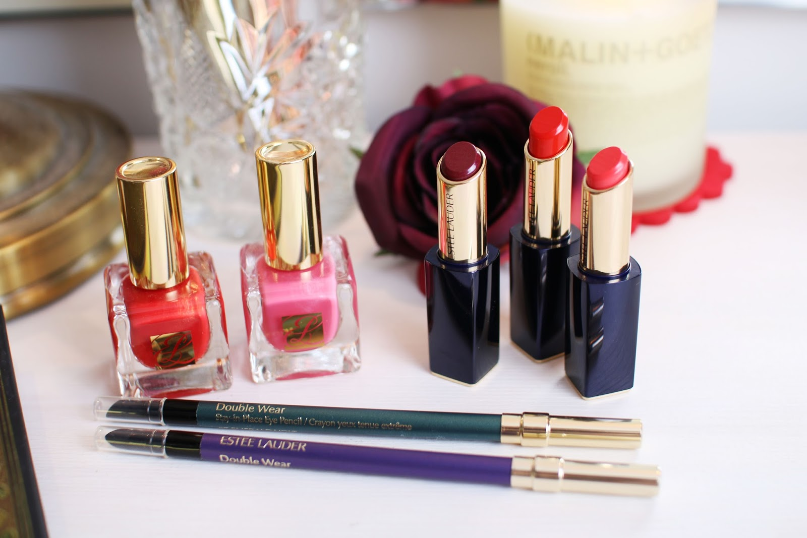 Beautifying with Estee Lauder: Nails, Lips and Eyes - Inthefrow