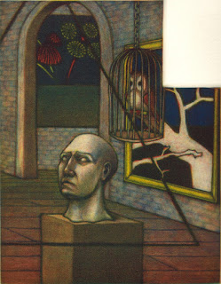 Greg Harrison multiple plate colour mezzotint print