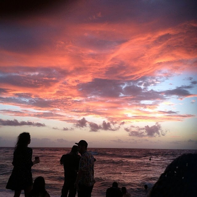 sunset sunshine spring break bikini twerk fitness trini palm trees tulum ocean bpm festival stereo night club friends playa del carmen mexico travel more