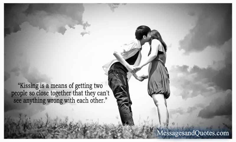 Kissing Messages and quotes