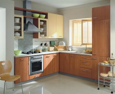 phòng bếp với diện tích nhỏ