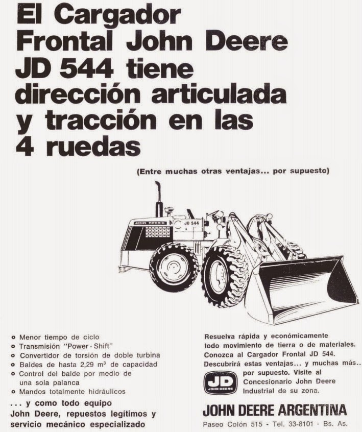 pesados argentinos  john deere 544 a    b