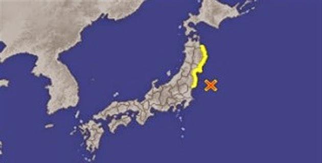 TERREMOTO DE 6,8 GRADOS EN JAPON GENERA PEQUEÑO TSUNAMI SIN DAÑAR CENTRALES NUCLEARES, 11 DE JULIO 2014