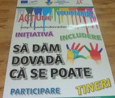 """Poster proiect""""SĂ DĂM DOVADĂ CĂ SE POATE"""""""