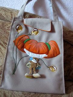 сумка своими руками, сумка с объемной апликацией, шьем сумку
