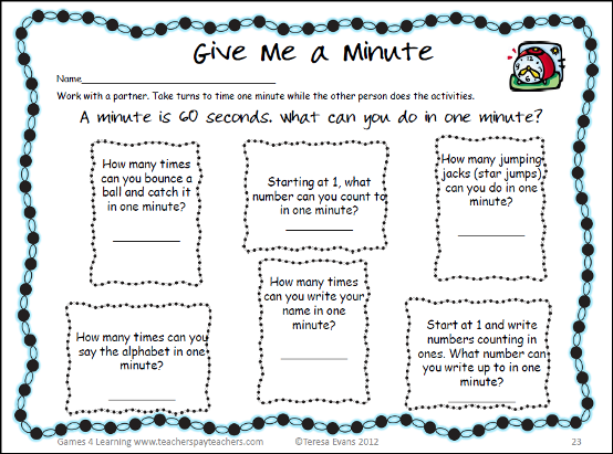 ... school math activities including those above in my back to school math