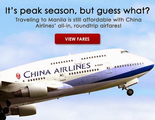 Mango Tours China Airlines promo