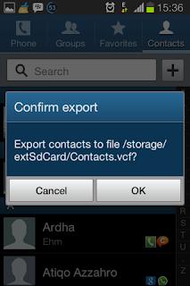 cara backup data kontak android