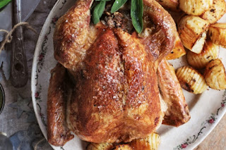 Sage roast turkey with pork stuffing and apple cider gravy Recipe