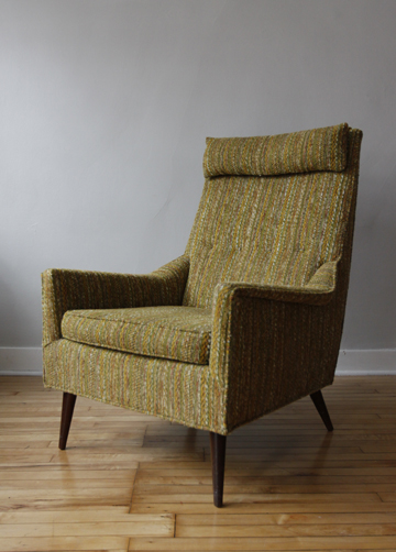 Merveilleux Mid Century High Back Chair