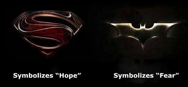 superman vs batman hope vs fear
