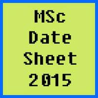 University of Peshawar UPESH MSc Date Sheet 2016 Part 1 and Part 2