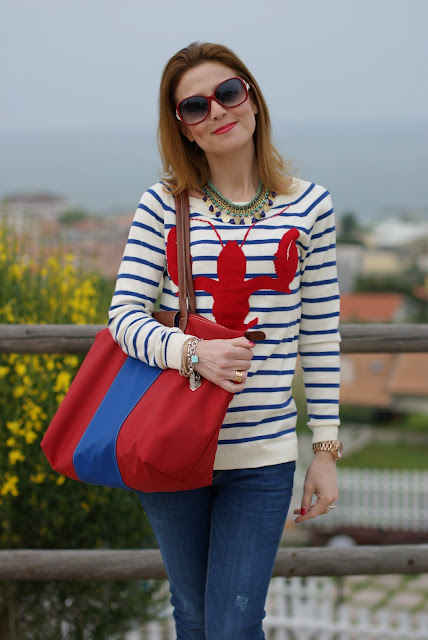 Asos lobster sweater, Firmoo sunglasses, Stradivarius necklace, Fashion and Cookies
