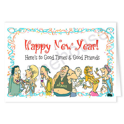 Funny New Year Greeting Card Template