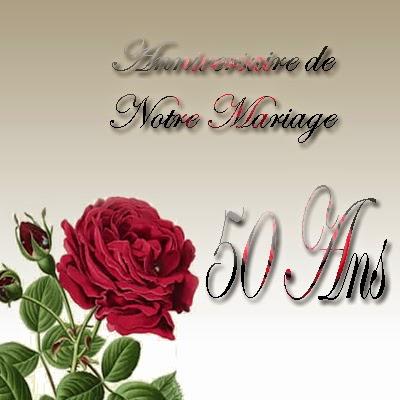 Carte invitation anniversaire mariage 50 ans gratuite imprimer - Cadeau noce d or ...
