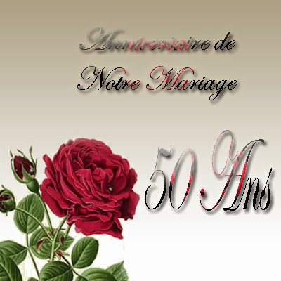 Carte anniversaire de mariage gratuite à imprimer 50 ans