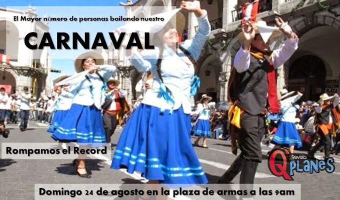 El mayor número de personas bailando el Carnaval Arequipeño - 24 de agosto
