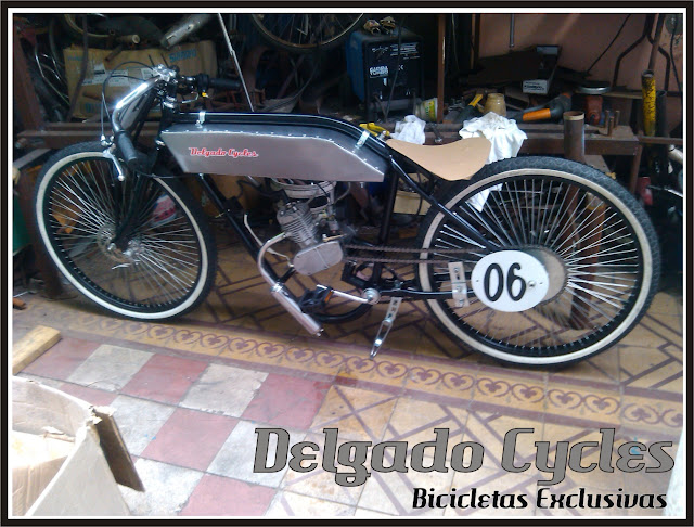 Bicicmoto Replica harley race 1910 - Delgado Cycles.