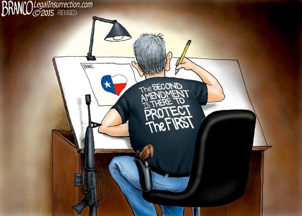 It Takes a Good Guy with a Gun to Defend Freedom of Speech