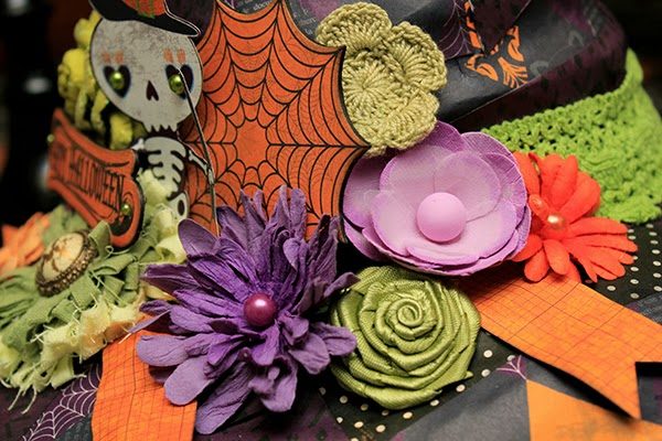 Halloween Witches Hat by Juliana Michaels detail