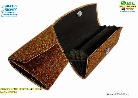 Dompet Batik Special List Emas