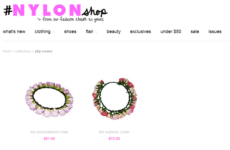 Nylon Magazine, Nylon shop, Floral Crown, P&P Crowns