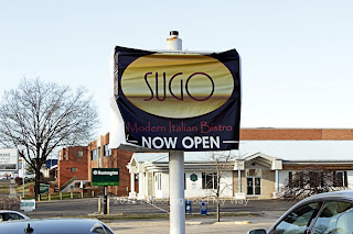 Roadside Sign for Sugo Bistro in Cuyahoga Falls, Ohio