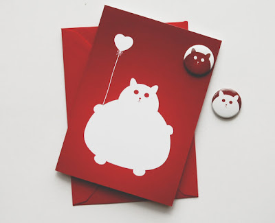 Cat valentines card