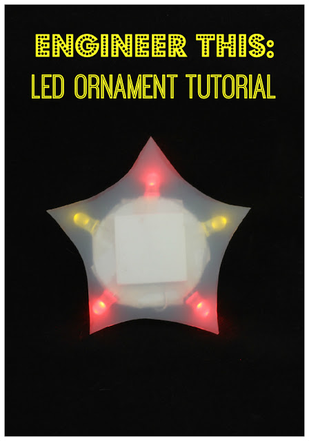 Fun STEM project for kids - make an LED ornament