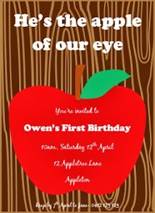 Apple Party Invitation