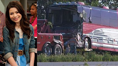 foto accidente Miranda Cosgrove