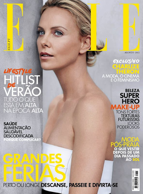 Actress, Fashion Model @ Charlize Theron for Elle Portugal, August 2015