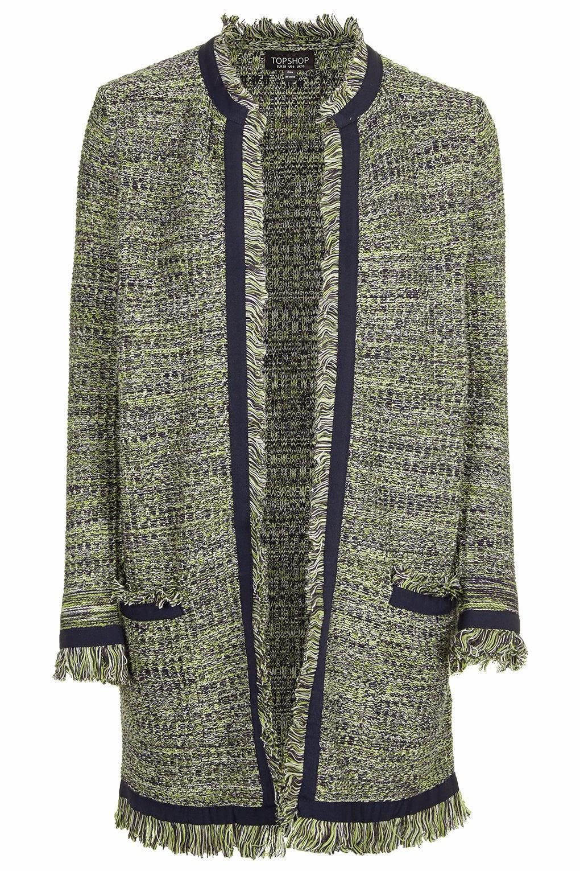 tweed cardigan,