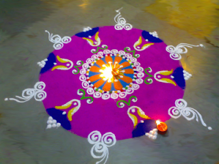 beautiful diwali rangoli design