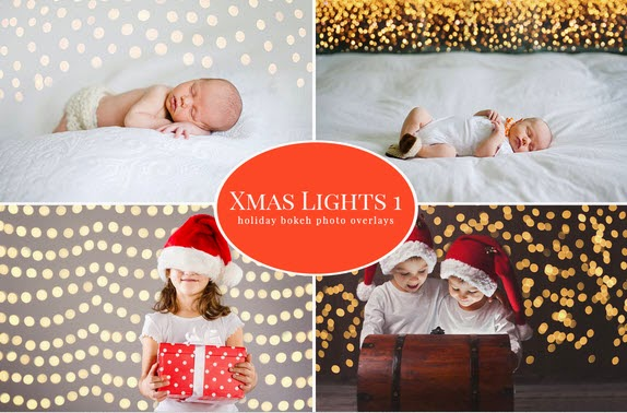 Christmas Lights 1 - photo overlays