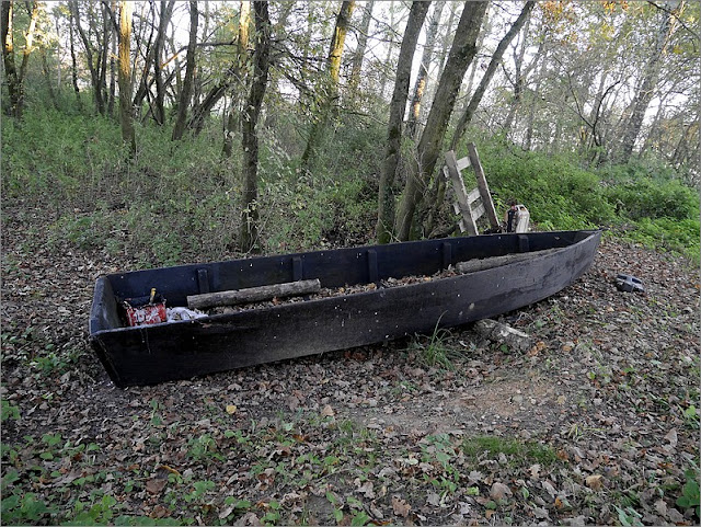 Painfaut, à Avessac,barque au bout de la presqu'ile
