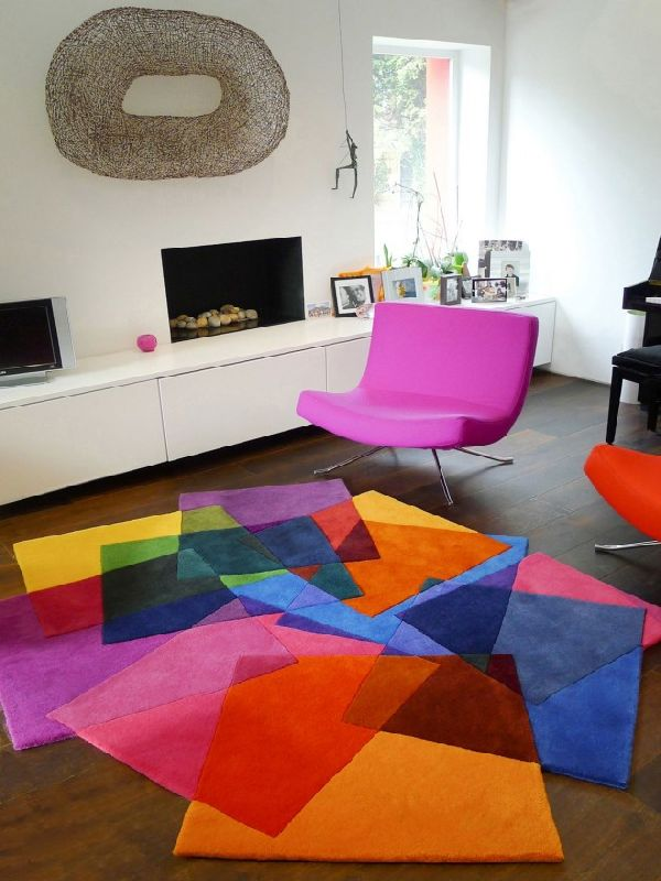 Living room design for Modern living room rugs