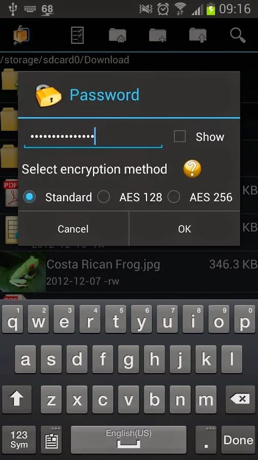 AndroZip - Aplikasi pembuka file rar android