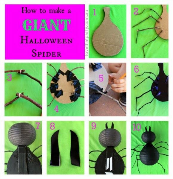 halloween spider craft for kids giant spider lantern