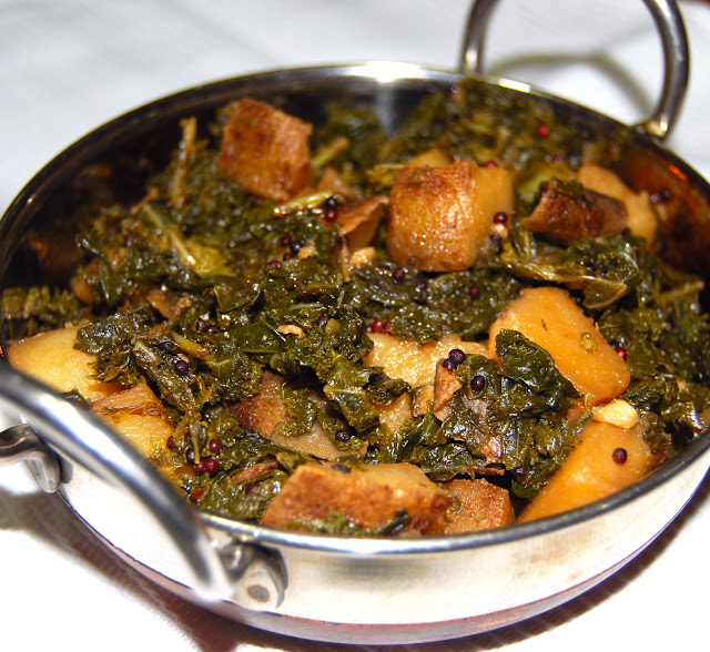 Kale and Potato subzi