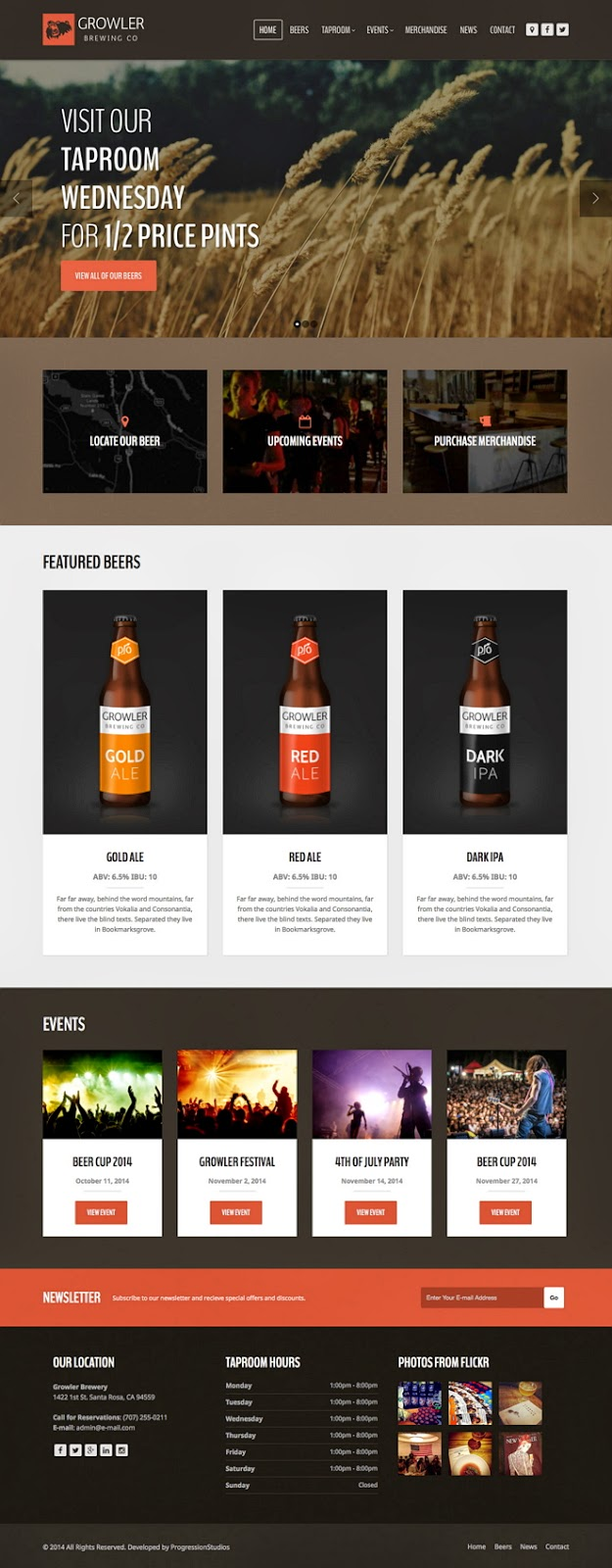 Prmeium Restaurant WordPress Theme